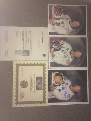 Apollo 11 Signed Photos Armstrong Aldrin Collins Authentic + Certificates