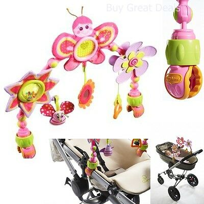 Baby Infant Pink Playing Arch Toys Car Seat Stroller Bassinet Attachment Kit NEW