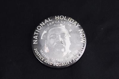 Vintage Martin Luther King Jr. Day National Holiday January 15 Pin Back Button