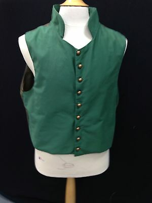MADE TO ORDER Regency Waistcoat With Buttons To Throat And Stand Up Collar
