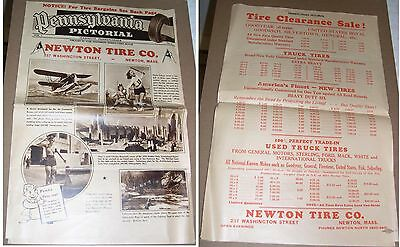 1940's Pennsylvania Pictorial from Jeanette Pennsylvania Newton Tires Co. Ad