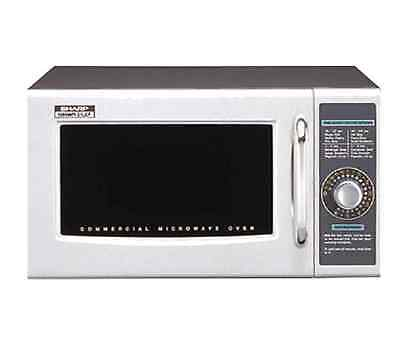 New Sharp R21LCF 1000 Watts Commercial Microwave Oven 1.0 Cu Ft 120v