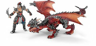 Schleich - Dragon Knight Warrior with Dragon Action Figure 70128 NEW