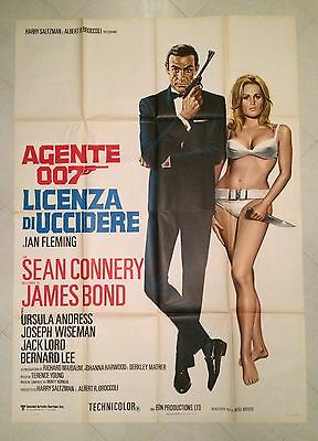 Manifesto  4F James Bond Agente 007 Licenza Di Uccidere Connery Andress Dr No