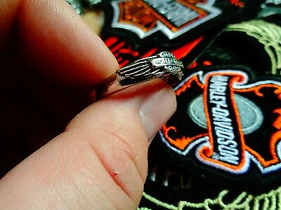 Vintage Harley Davidson Ring Factory HD Motorcycle Dealership Jewelry Size 13