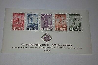 Philippines 10Th World Scout Jamboree 1959 Minisheet Of 5 Stamps