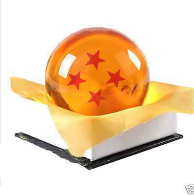 "New Dragon Ball DragonBall Z Crystal Ball 4 Star Diameter 3""/7.5cm Ball in Box"