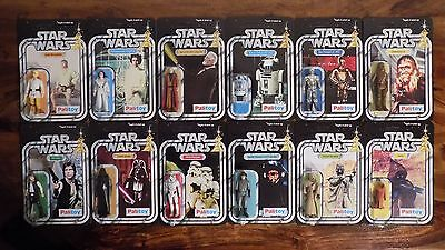 Vintage Star Wars 12 Back Action Figure Set Palitoy 1977 ANH Vinyl Cape Jawa