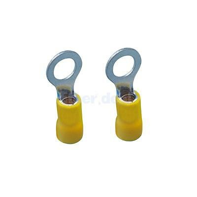 50x Yellow Insulated Wiring Ring Electrical Connector Terminals 6.3mm