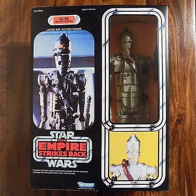 "Vintage Star Wars IG-88 1980 12"" Inch Doll Figure 15"" Boxed Empire Strikes Back"