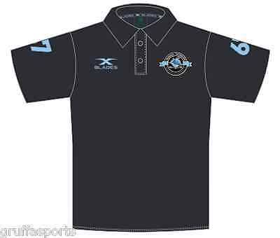 Cronulla Sharks 2017 Heritage Polo Shirt Sizes S - 5XL Black NRL In Stock Now!!