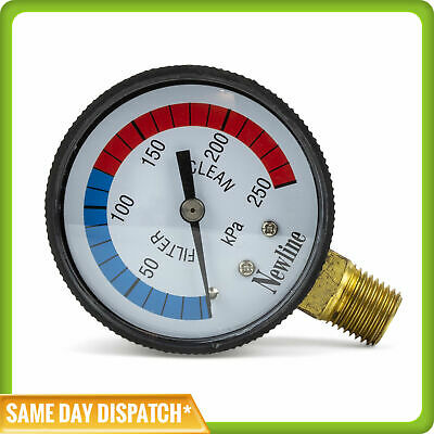 Aussie Gold Pressure Gauge For Pool Filters - Plastic - Lower Mount