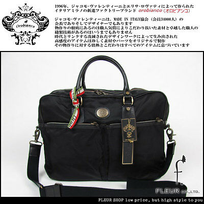 [NEW] Orobianco Italy made briefcase black IMPORTED