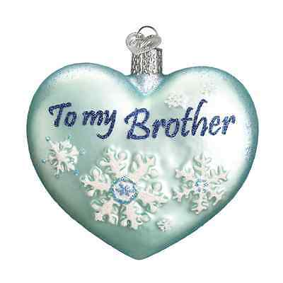 """Brother Heart"" (To my Brother) (30048)X Old World Christmas Glass Ornament"