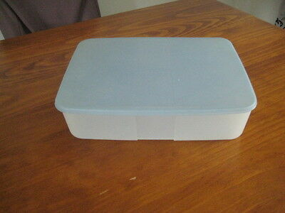 Tupperware Freezer Mate Container Blue Lid 3.3L Large Rectangle -Good Condition