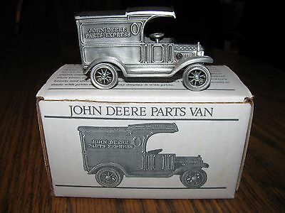 John Deere Pewter Parts Van Spec Cast Toy 1st In Series LIMITED EDITION JDM012