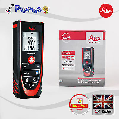 Leica Disto D2 BT - Bluetooth Laser Measurer (100m Range) UK Stock