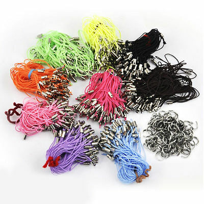 100pcs Charm Mobile Phone Dangle Strap String Thread Cord 7mm Jumprings