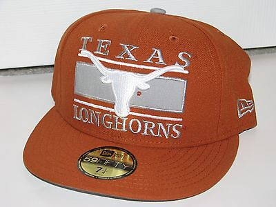 brand new a779b c975b Texas Longhorns New Era 59Fifty  Frosh  Hat Cap 7 1 4 NWT!