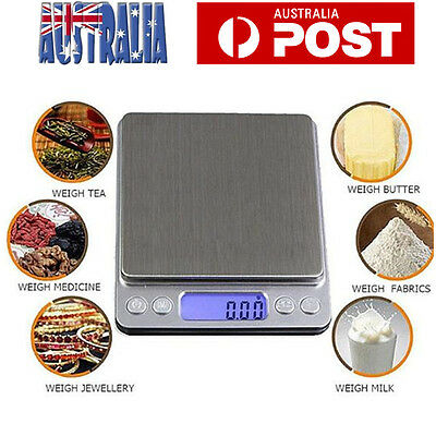 0.1-3000g Kitchen Food Scale Digital LCD Electronic Balance Weight Postal Scales