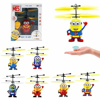 Despicable ME Flying Aircraft Minion RC Remote Control Helicopter Toys Bauble