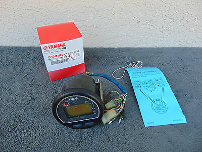 Yamaha outboard tach 6Y5-8350T Gauge tachometer used solid gear