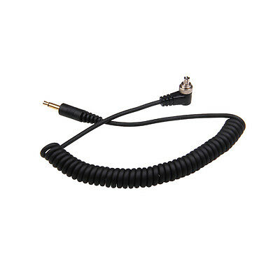 3.5mm to Male FLASH PC Sync Cable Cord with Screw Lock FC-240 RF-603