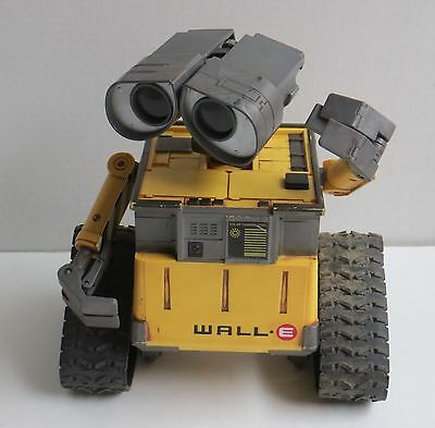 Disney Pixar Thinkway Toys Wall-E Toy Robot Lights Sound Missing Remote Control