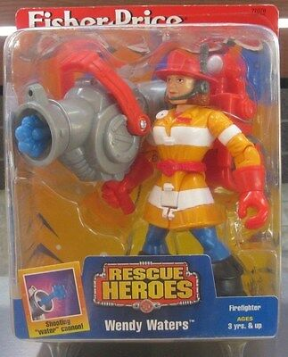 Fisher Price - Rescue Heroes, Wendy Waters Firefighter **mint Dated 1998