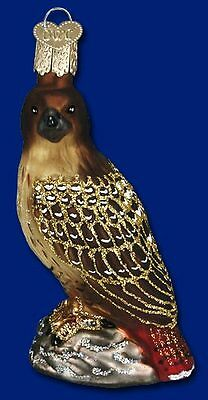 """""""Red-tailed Hawk"""" (16064) Old World Christmas Glass Ornament"""