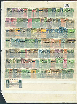 s2994 Stamp Accumulation US Pre cancels singles