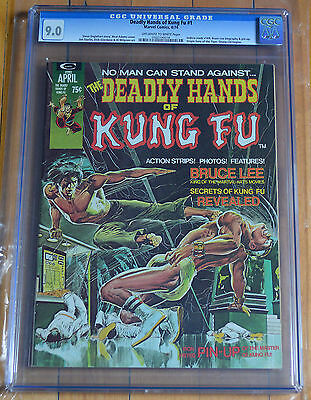 CGC 9.0 Deadly Hands of Kung Fu #1 *OW-White Pages*Shang-Chi begins*1974