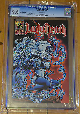 CGC 9.6 Lady Death #½  Red Velvet Edition *White Pages*