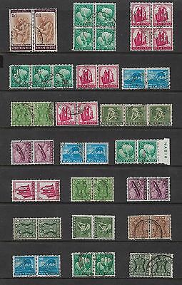 INDIA - mixed collection, joined blocks strips pairs No.4