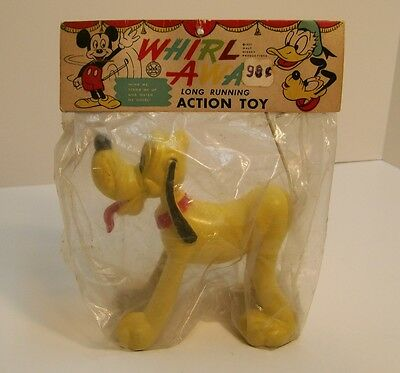 Marx Whirl - Away Disney Pluto Dog Windup Sealed In Bag 1957