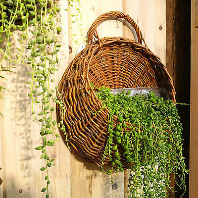 wall mounted plant stand hanging wicker plant pot fresh dry flower basket Big