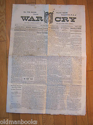 1885 War Cry Newspaper Salvation Army Booth Sweden Church Original