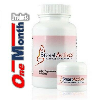 FRESH Breast Actives All Natural Breast Enhancement Combo Kit *Capsules & Cream*