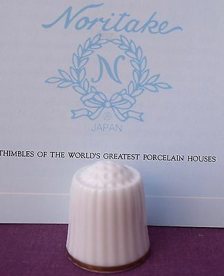 NORITAKE CHINA JAPAN THIMBLE from FRANKLIN MINT WGPH SERIES PHAMPLET BOOK  #2