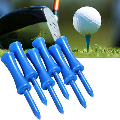 100pcs Plastic Step Down Castle Golf Tees Height Control Blue 68mm/2.7inch