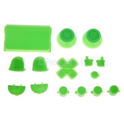Green Bullet L2 R2 Buttons Mod Pad Thumbstick Full Set for PS4 Controller