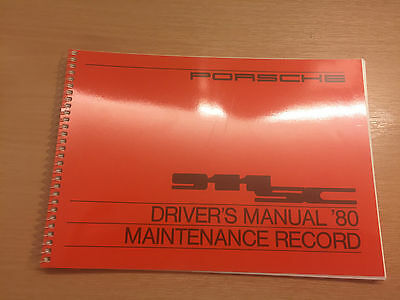 Porsche 911 Sc Drivers Manual 80 Maintenance Record