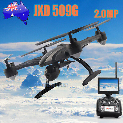 JXD509 FPV 2.4Ghz 4CH 6-Axis RC Quadcopter Drone With 2MP Camera HD RTF AU 2016
