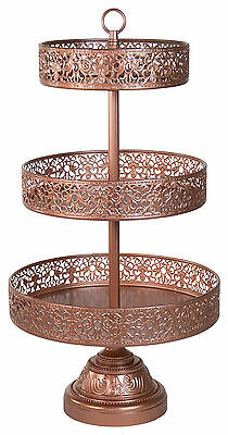 Reversible 3 TIER Cake stand   Up market High Quality  Steel Powder coated