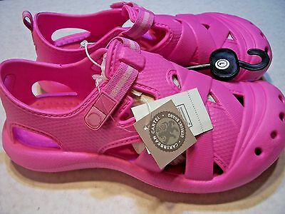 New Caribbean Cartel Kid Hot Pink Water Sandal Shoe Adjustable Strap Crocs Style