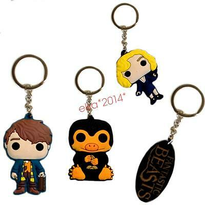 New arrived Fantastic Beasts and Where to Find Them Rubber Keychain Keyrings