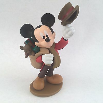 Disney Authentic MICKEY MOUSE BOB CRATCHIT CHRISTMAS CAROL Cake TOPPER Toy NEW