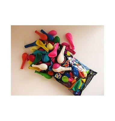 Lot 100 Ballons Gonflables Latex (29 X 40Cm) Multicolores (12 Coloris) - Neuf