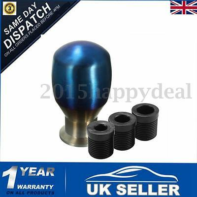 Blue Aluminum Manual Gear Shift Shifter Lever Knob Adapter Car For VW / PEUGEOT