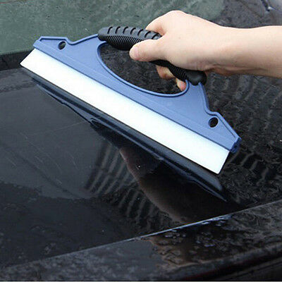 Silicone Car Window Wash Cleaning Brush Cleaner Wiper Squeegee Drying Blade FO
